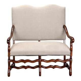 French Os De Mouton Settee c.1920