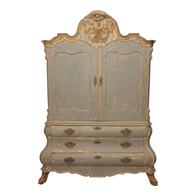 19th C Dutch Painted Buffet Deux Corp - Image 1 of 11