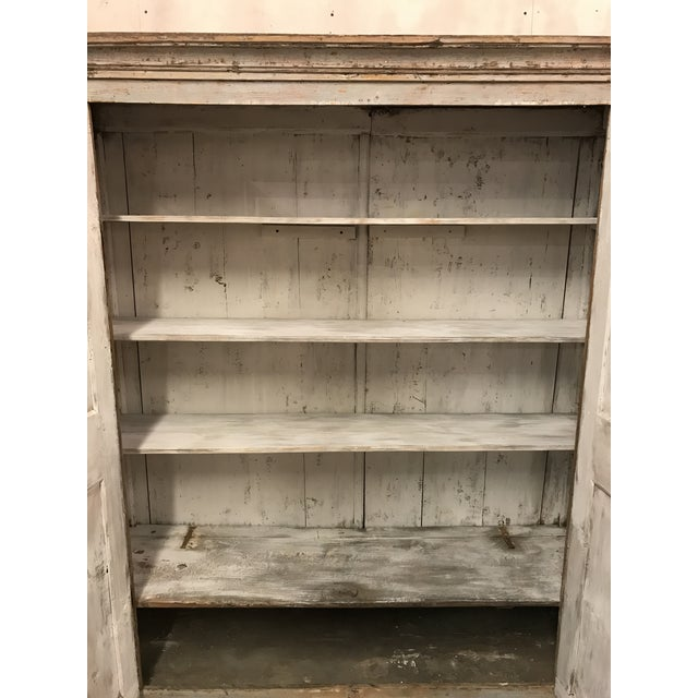 Antique Provincial Painted Italian Armoire - Image 6 of 6