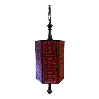Boho Red Hanging Light