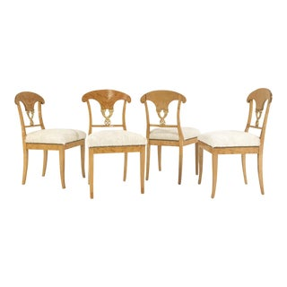 Circa 1820 Biedermeier Brazilian Cowhide Chairs - Set of 4