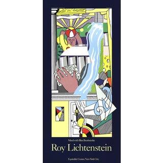 """Roy Lichtenstein """"Mural with Blue Brushstroke"""" Poster"""