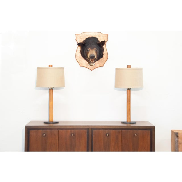 Image of Raymor Bauhaus Style Vintage Table Lamps - A Pair