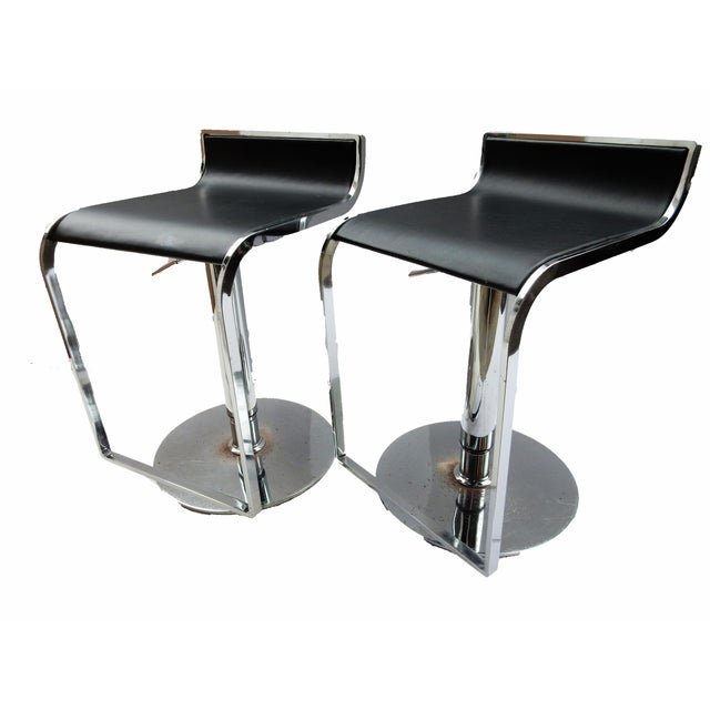Chrome Swivel Counter Stools - A Pair - Image 5 of 6