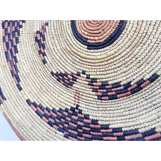 Vintage Moroccan Berber Woven Bowl Tray - Image 6 of 6