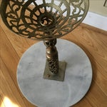 Image of Vintage Marble & Brass Side Table