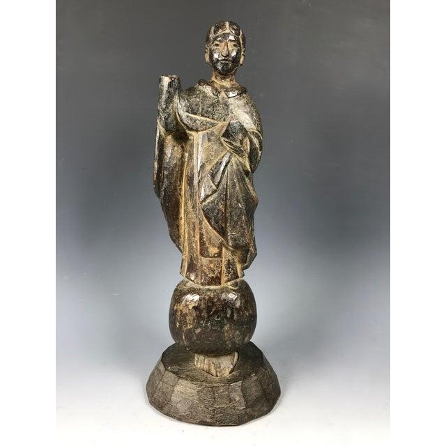 19th C. Carved San Vicente Ferrer Sculpture - Image 2 of 6