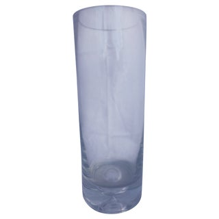 Large Mid Century Art Glass Vase