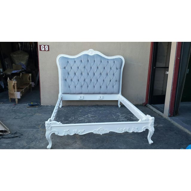 image of french style tufted bed frame king size - Tufted Bed Frame King