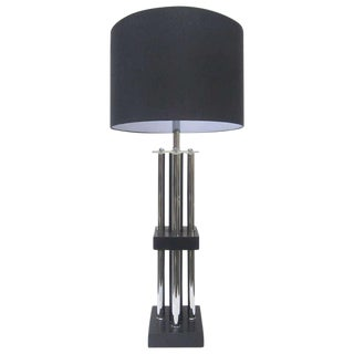 Tubular Chrome Column Lamp