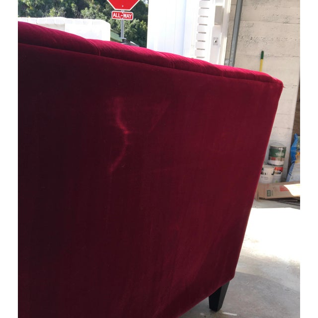 Hollywood Regency Style Velvet Sofa - Image 9 of 11