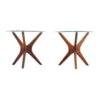 "Adrian Pearsall Sculptural Walnut ""Jax"" Side Tables - a Pair"