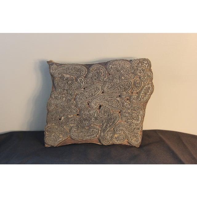 Antique Italian Paisley Fabric Mold - Image 5 of 5