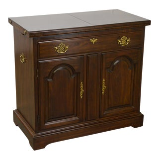 Harden Solid Cherry Chippendale Style Flip Top Server