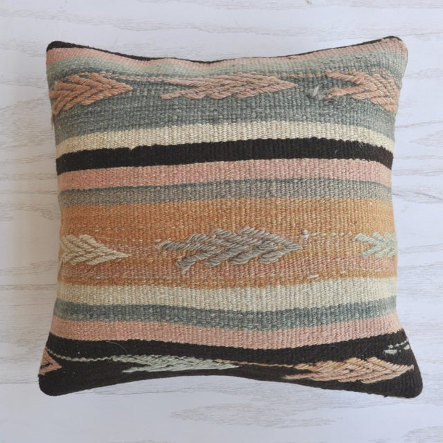 Cactus Flower Vintage Kilim Pillow Cover - Image 2 of 3