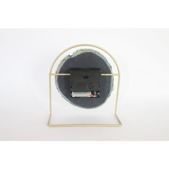 Image of Handmade Modern Teal SoLo Agate Clock
