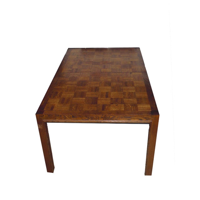Mid-Century Modern Formica Wood Dining Set - Image 3 of 9