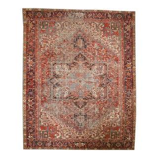 """Vintage Heriz Carpet - 9'1"""" X 11'3"""""""