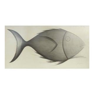 """Fish"" Original Drawing by Yuri Zatarain"