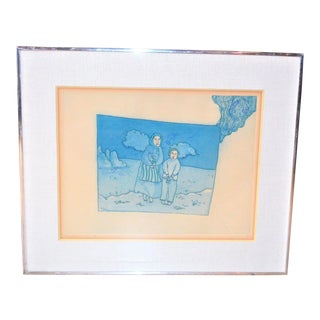 Surrealist Benjamin Levy Artist Proof Etching