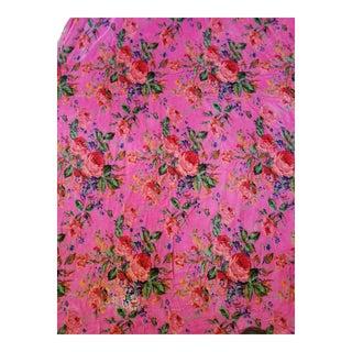 Cabbage Rose Cotton Velvet Fabric,3yds