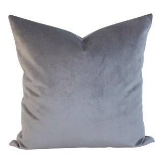 Gray Velvet Pillow 24x24
