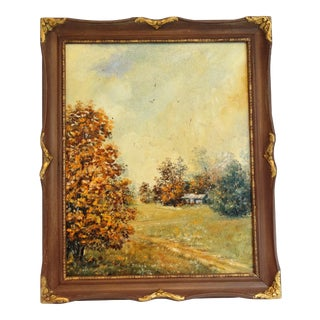 Plein Air Autumnal Oil Painting