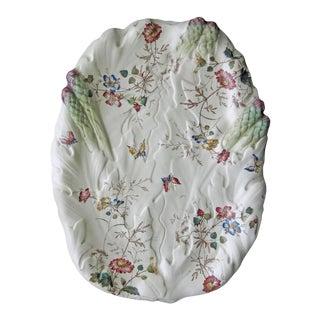 William Adderley Staffordshire Transferware Wildflower & Asparagus Platter