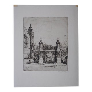 Original Pencil Signed Vintage Engraving By Henry Lambert