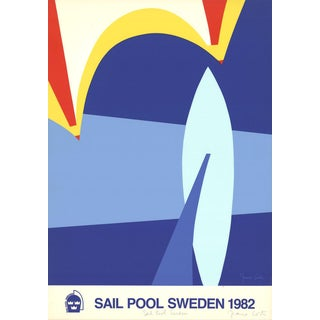 Franco Costa-Sail Pool Sweden-1982 Serigraph-SIGNED