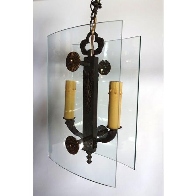 fontana arte style chandelier chairish. Black Bedroom Furniture Sets. Home Design Ideas