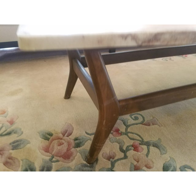 Mid-Century Marble Top Cocktail Table - Image 6 of 8