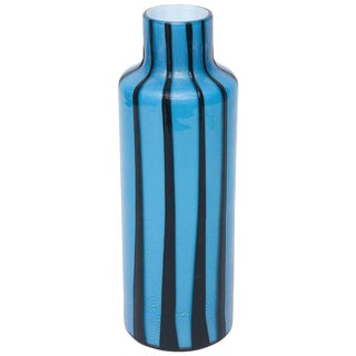 Italian Murano Barbini Glass Pinwheel Vase
