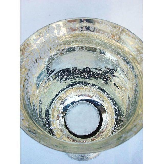 Large Mercury Glass Hurricane Candle Holder - Image 4 of 4