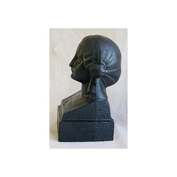 Image of 19th C. French Cast Iron Female Bust Fragment