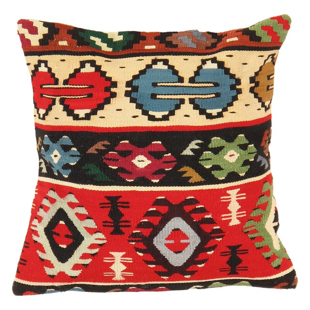 Pasargad Decorative Vintage Kilim Pillow - Image 1 of 2