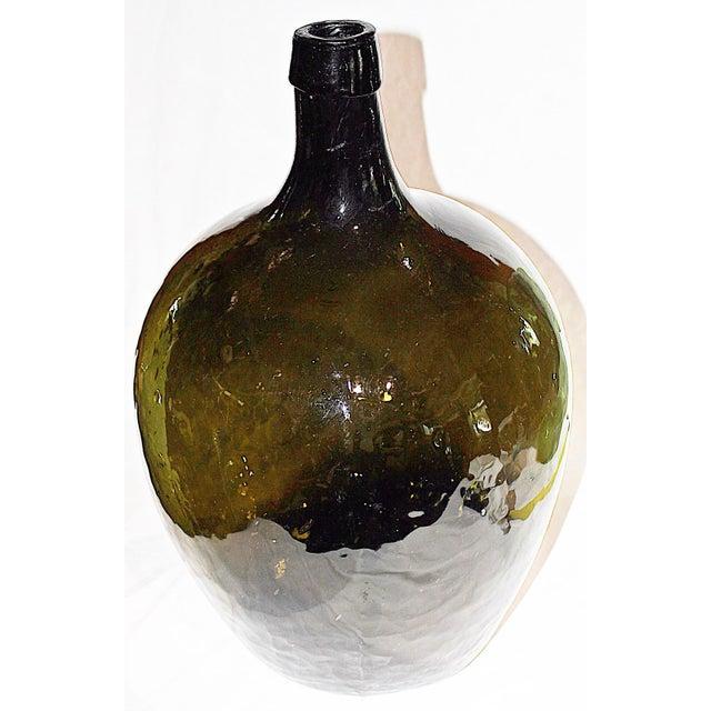 Green Demijohn Blown Bottle - Image 3 of 7
