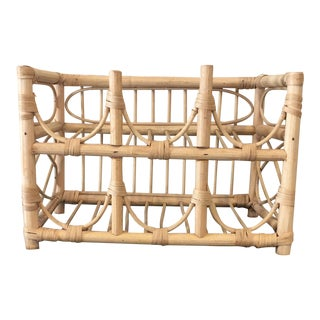 Six-Bottle Rattan Wine Rack