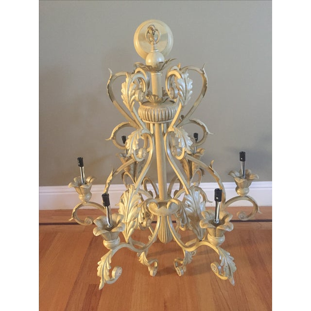 Image of Antique Six-Light Chandelier