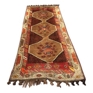 Vintage Turkish Runner Rug - 4′4″ × 11′5″