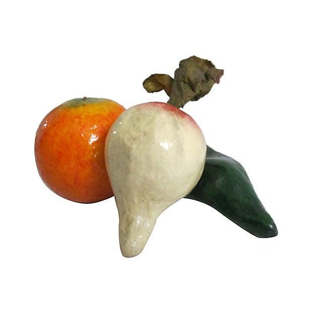 Image of Papier-Mâché Vegetables - Set of 3
