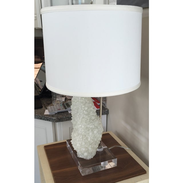 Quartz Table Lamp With Lucite Base - Image 4 of 5