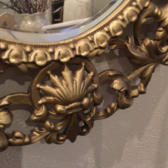 Antique Gold Mirror With Crystal Candles - Image 6 of 10