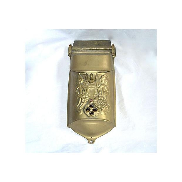 Vintage Brass Mailbox With Peephole - Image 3 of 11