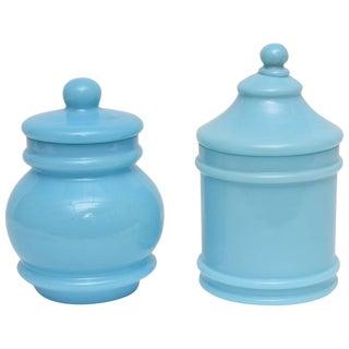 Portieux Opaline Glassware - A Pair