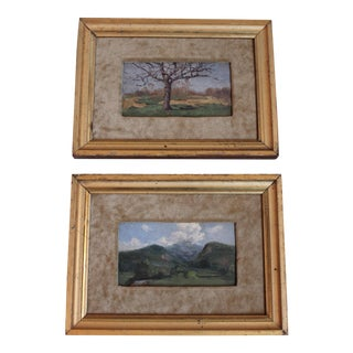 Small Vintage Landscapes - Pair