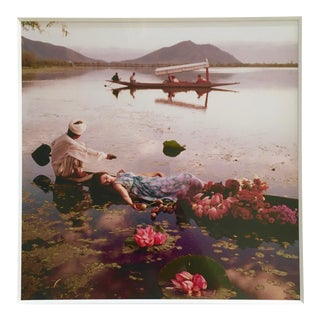 "Norman Parkinson's ""Floating With Flowers,"" Kashmir, India, 1956"