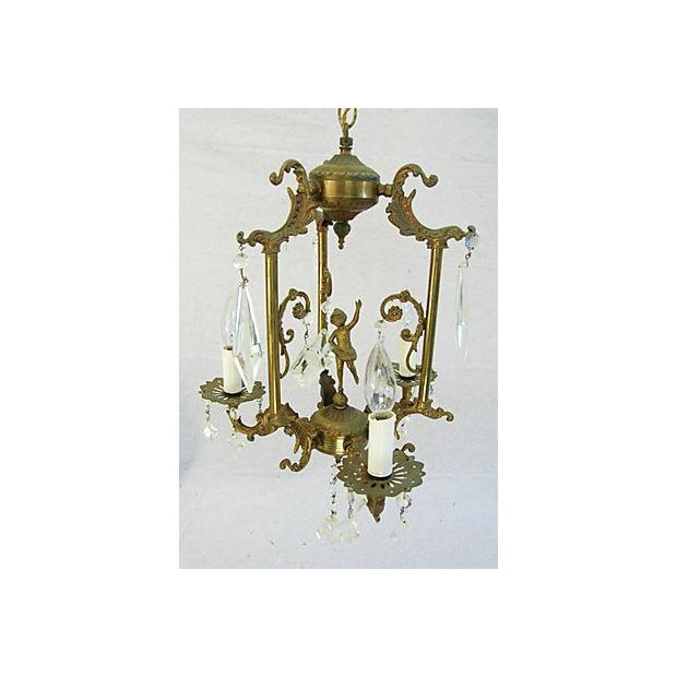 1950s Crystal 3 Arm Chandelier - Image 3 of 8