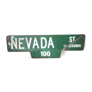 Enameled 2-Sided Nevada Street Sign