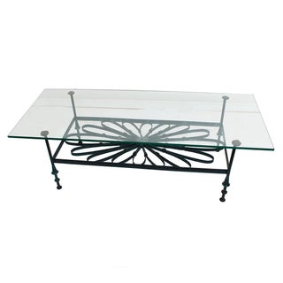 Decorator Wrought Iron & Glass Coffee Table